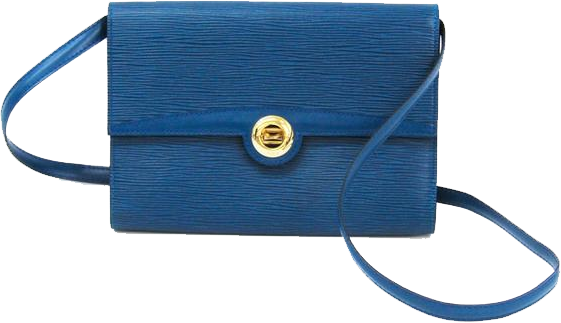 Buy & Consign Authentic Louis Vuitton Toledo Blue Epi Leather Pochette Arche Bag at The Plush Posh
