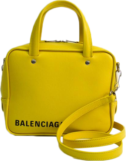 Buy & Consign Authentic Balenciaga Calfskin Square Bag XS Yellow at The Plush Posh