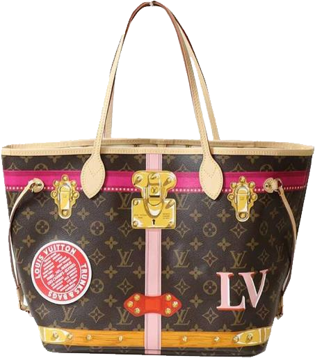 Buy & Consign Authentic Louis Vuitton Neverfull 2018 Limited MM Summer Trunk Monogram Print  Brown Canvas Tote at The Plush Posh