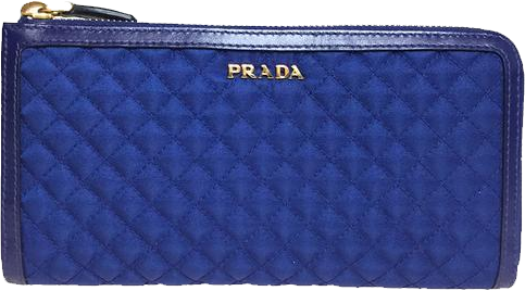 Buy & Consign Authentic Prada Blue Quilted Zip Around Long Wallet at The Plush Posh