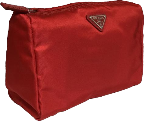 Buy & Consign Authentic Prada Rosso Nylon Pouch9 at The Plush Posh