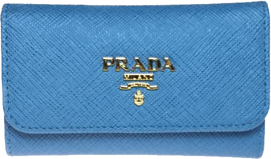 Buy & Consign Authentic Prada SAFFIANO METAL Key Case Light Blue at The Plush Posh