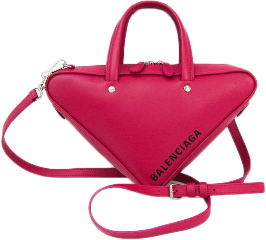 Buy & Consign Authentic Balenciaga Calfskin Triangle Duffle XS Pink at The Plush Posh