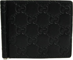 Buy & Consign Authentic Gucci Black Guccissima Leather Bifold Wallet at The Plush Posh