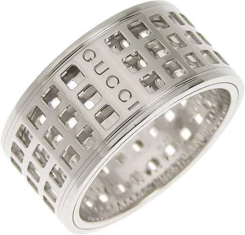 Buy & Consign Authentic Gucci 18K White Gold Scroll Ring at The Plush Posh
