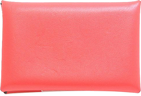 Buy & Consign Authentic Hermes Epsom Calvi Card Case Salmon Pink at The Plush Posh