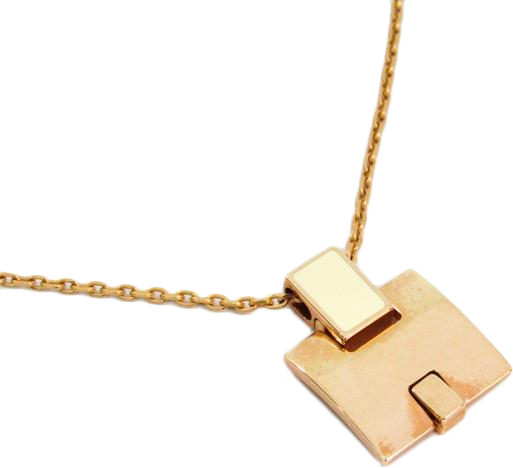 Buy & Consign Authentic Hermes Gold Plated Lacquered Eileen Pendant Necklace at The Plush Posh
