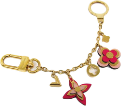 Buy & Consign Authentic Louis Vuitton Bijussac Chene Blooming Flower Keyring (Gold,Pink) at The Plush Posh