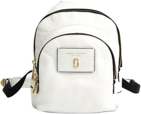 Buy & Consign Authentic Marc Jacobs Leather Backpack Black White at The Plush Posh