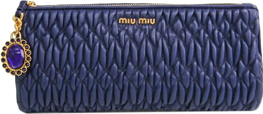Buy & Consign Authentic Miu Miu Matelasse Lux Leather Wristlet Clutch Purple at The Plush Posh