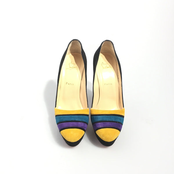 Buy & Consign Authentic Christian Louboutin Multi Colour Suede Pumps 39.5 at The Plush Posh