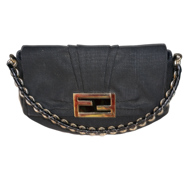 Fendi Mia Flap Bag Black