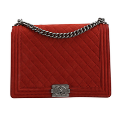 Buy & Consign Authentic Chanel Caviar Quilted Medium Boy Flap Red at The Plush Posh