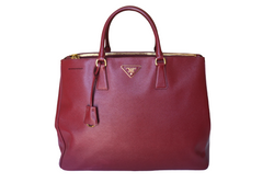 Prada Saffiano Galleria Double Zip Tote Large