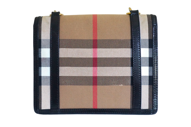 Burberry House Check Coated Fabric and Leather Bag