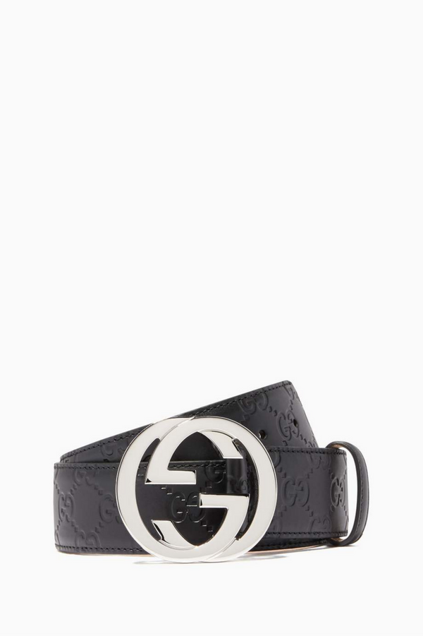 Gucci Signature Unisex Leather Belt