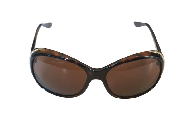 Bulgari Women's Velvet Brown / Gradient Lens Diamante Shades