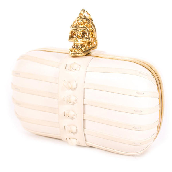 Buy & Consign Authentic Alexander McQueen Skull Box Clutch at The Plush Posh