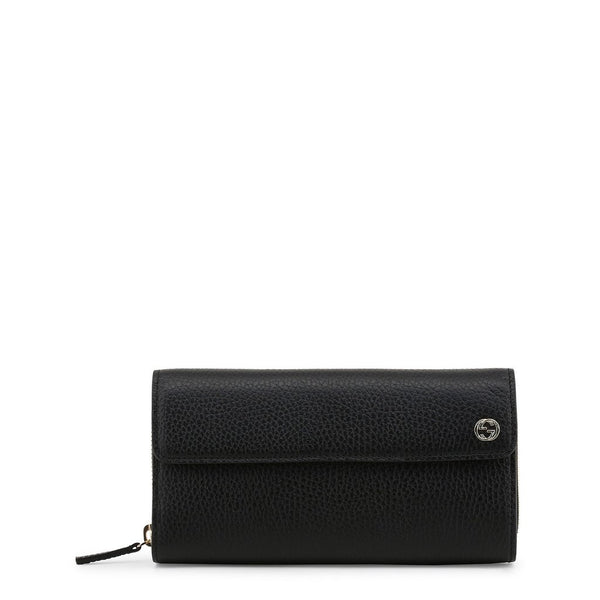 Buy & Consign Authentic Gucci Pebbled Calfskin Interlocking G Continental Wallet Black at The Plush Posh