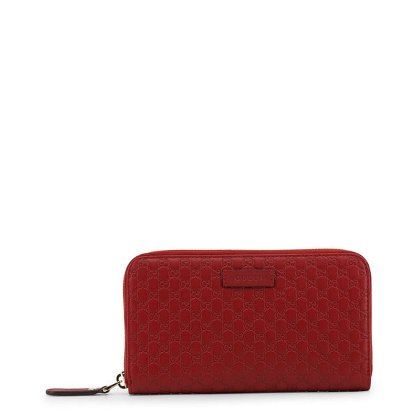 Buy & Consign Authentic Gucci Microguccissima Zip Around Wallet Red at The Plush Posh