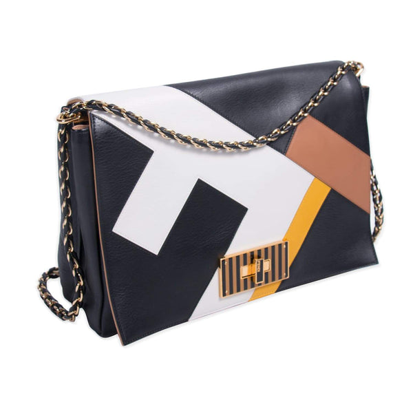 Buy & Consign Authentic Fendi Pequin Claudia Large Flap at The Plush Posh