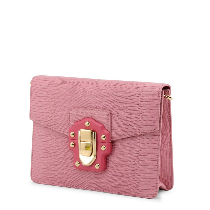 Buy & Consign Authentic Dolce & Gabbana Stampa Iguana Calfskin Shoulder Bag Pink at The Plush Posh