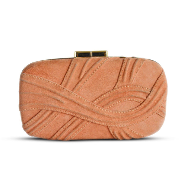Buy & Consign Authentic Elie Saab Suede Clutch Orange at The Plush Posh