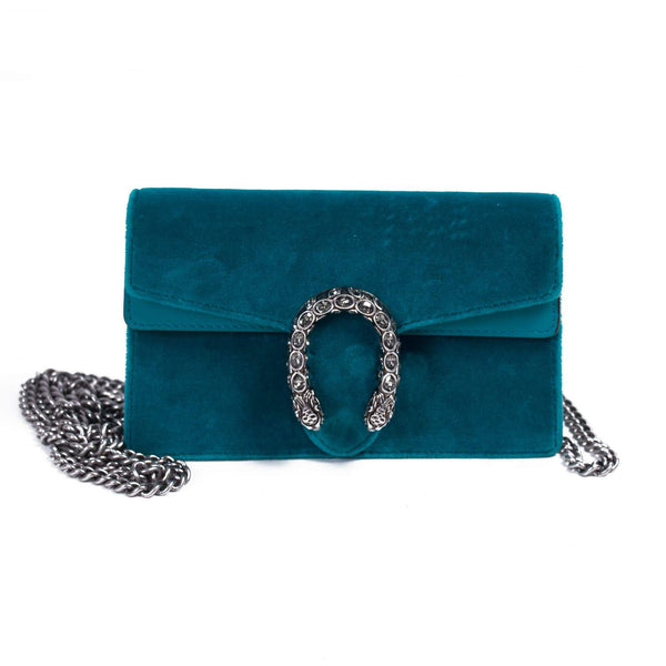 Buy & Consign Authentic Gucci Velvet Small Dionysus Teal Blue at The Plush Posh