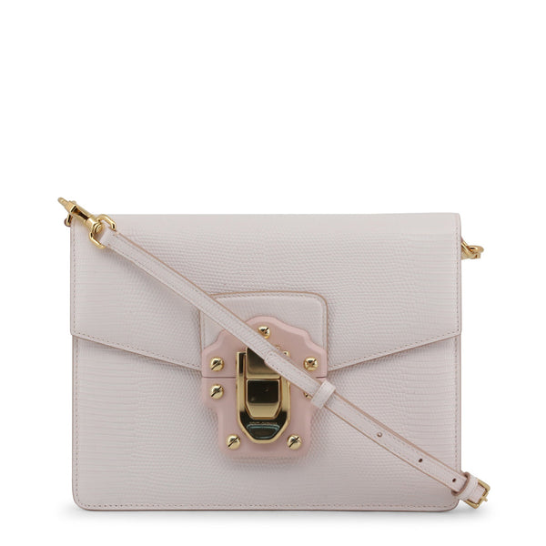 Buy & Consign Authentic Dolce & Gabbana Stampa Iguana Calfskin Shoulder Bag Pastel Pink at The Plush Posh