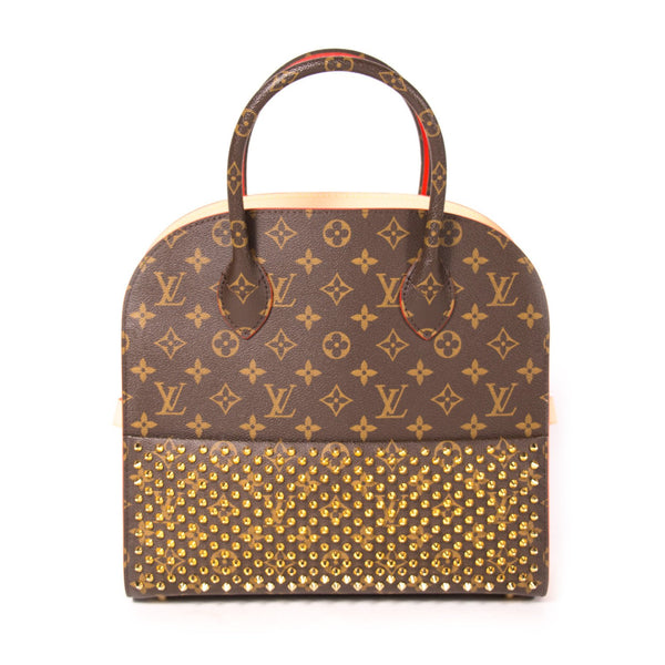 Buy & Consign Authentic Louis Vuitton Monogram Calf Hair Spikes Iconoclasts Christian Louboutin Tote Red at The Plush Posh