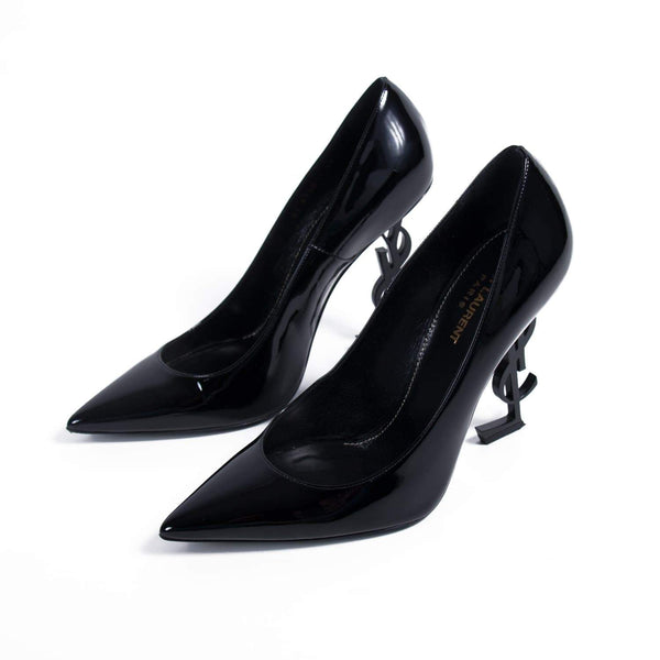 Buy & Consign Authentic Saint Laurent Calfskin Opyum 100 Pumps 40 Black at The Plush Posh