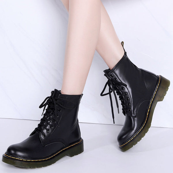 Black Vintage Leather Boots