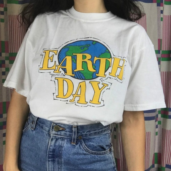 Earth Day 90s Aesthetic Earth Day Shirt - RE Apparel