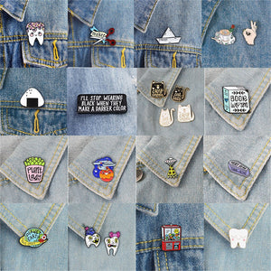 Decorative Art Pins for Backpacks or Clothing - RE Apparel