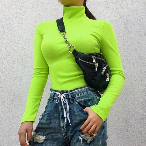 Neon Autumn Long Sleeve Turtleneck