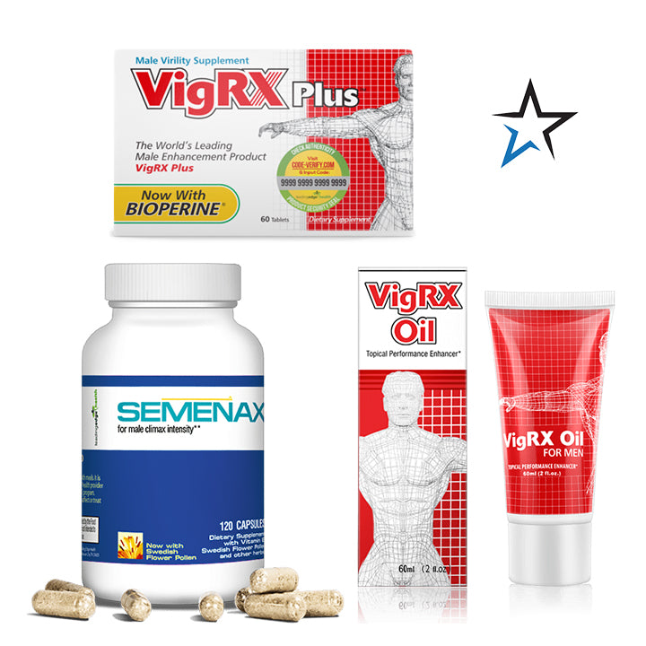 VigRx Plus and Semenax PLUS VigRx Oil Bundle - Natural Health Store