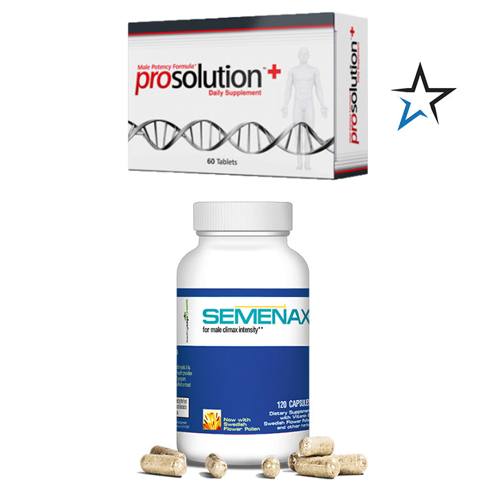Semenax 120 ct and ProSolution Plus Combo - Natural Health Store
