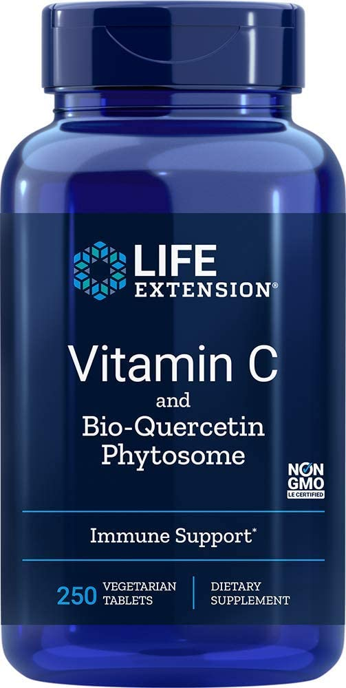 Life Extension Vitamin C with Bio-Quercetin Phytosome, 250 Tablets - Natural Health Store