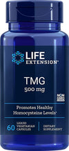 Life Extension TMG 500 mg, 60 Liquid Vegetarian Capsules - NaturalHealthStore.com