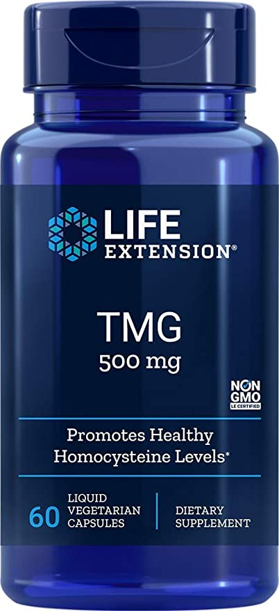 Life Extension TMG 500 mg, 60 Liquid Vegetarian Capsules - Natural Health Store