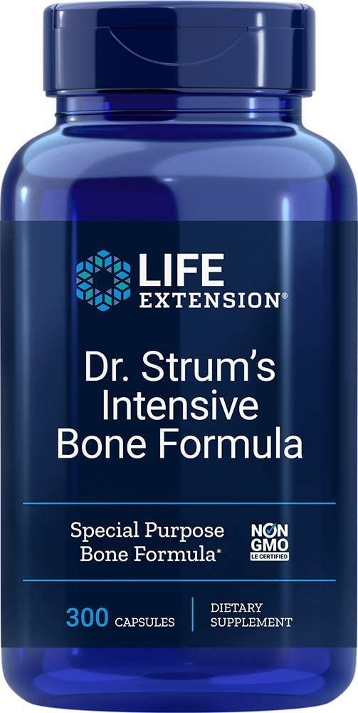 Life Extension Dr. Strum's Intensive Bone Formula, 300 Capsules - Accudata Marketing Group, LLC