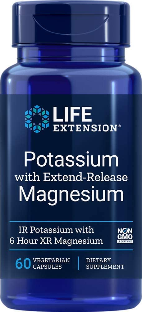 Life Extension Potassium with Extend-Release Magnesium, 60 Count - Accudata Marketing Group, LLC