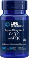 Life Extension Super Ubiquinol CoQ10 with PQQ, 30 Softgels - Natural Health Store
