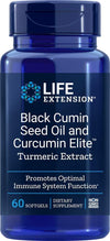 Life Extension Black Cumin Seed Oil & Curcumin Elite Turmeric Extract, 60 Softgels - Natural Health Store