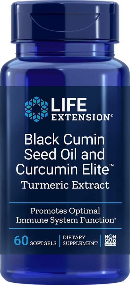 Life Extension Black Cumin Seed Oil & Curcumin Elite Turmeric Extract, 60 Softgels - Accudata Marketing Group, LLC