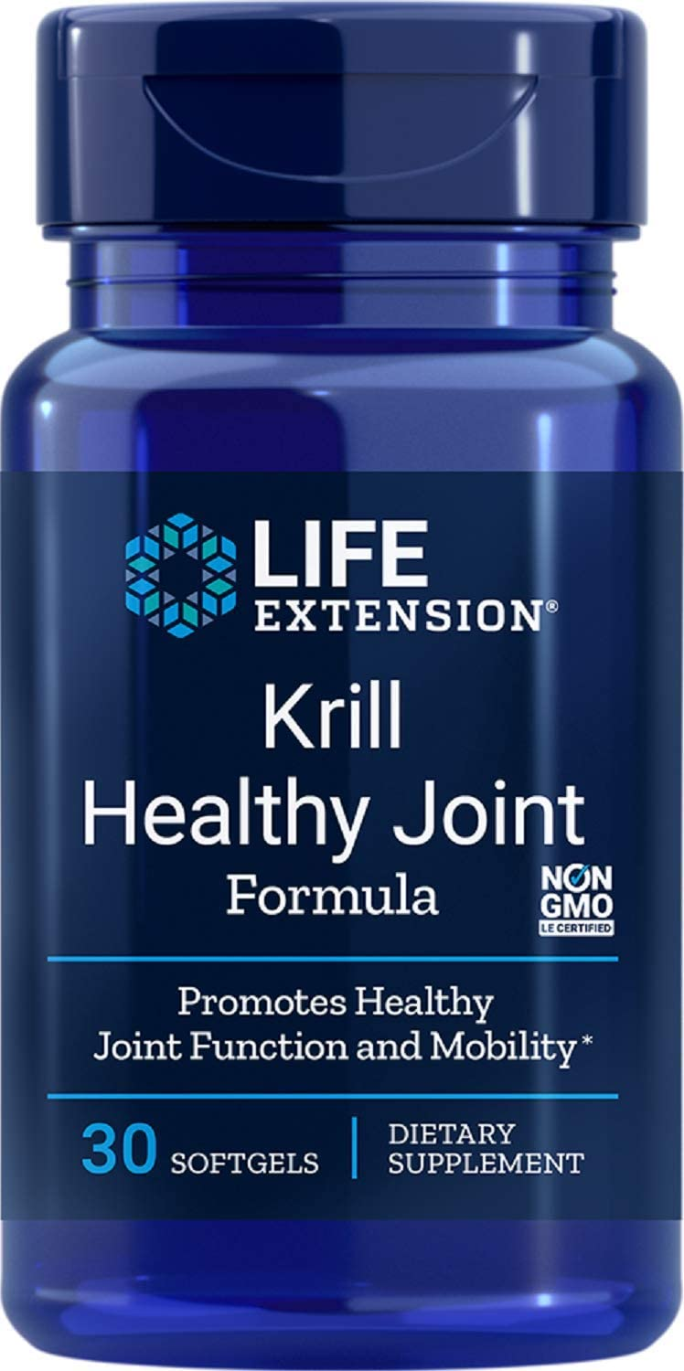 Life Extension Krill Healthy Joint Formula, 30 Softgels - Accudata Marketing Group, LLC