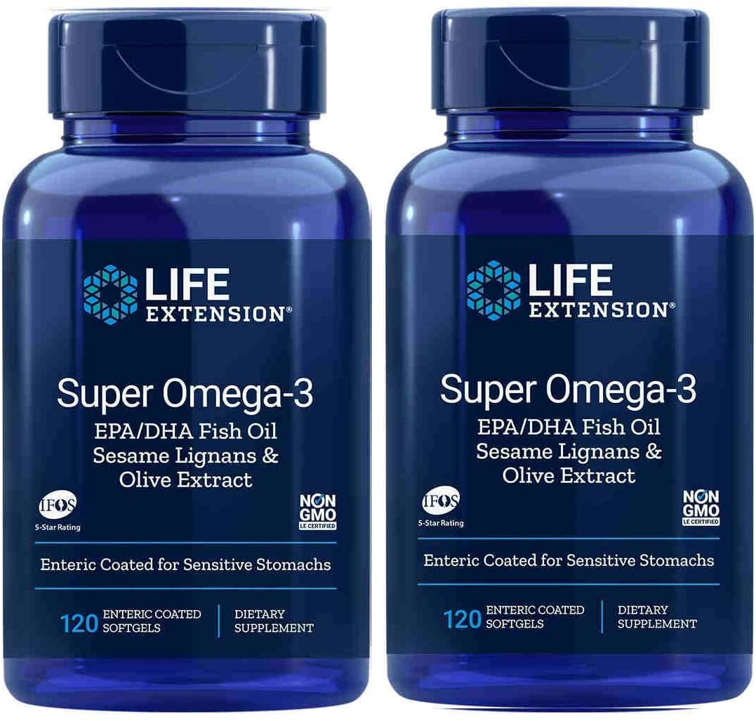 Super Omega-3 EPA/DHA with Sesame Lignans and Olive Fruit Extract 120 Softgels (Pack of 2) - Accudata Marketing Group, LLC