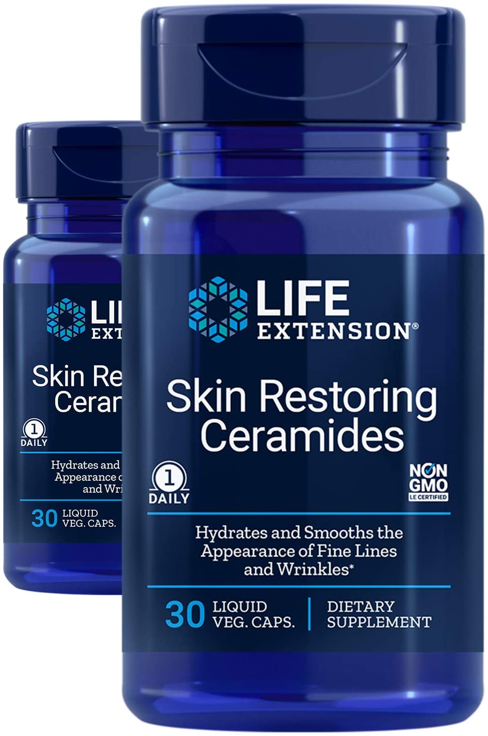 Life Extension Skin Restoring Ceramides, 30 Count (Pack of 2) - NaturalHealthStore.com