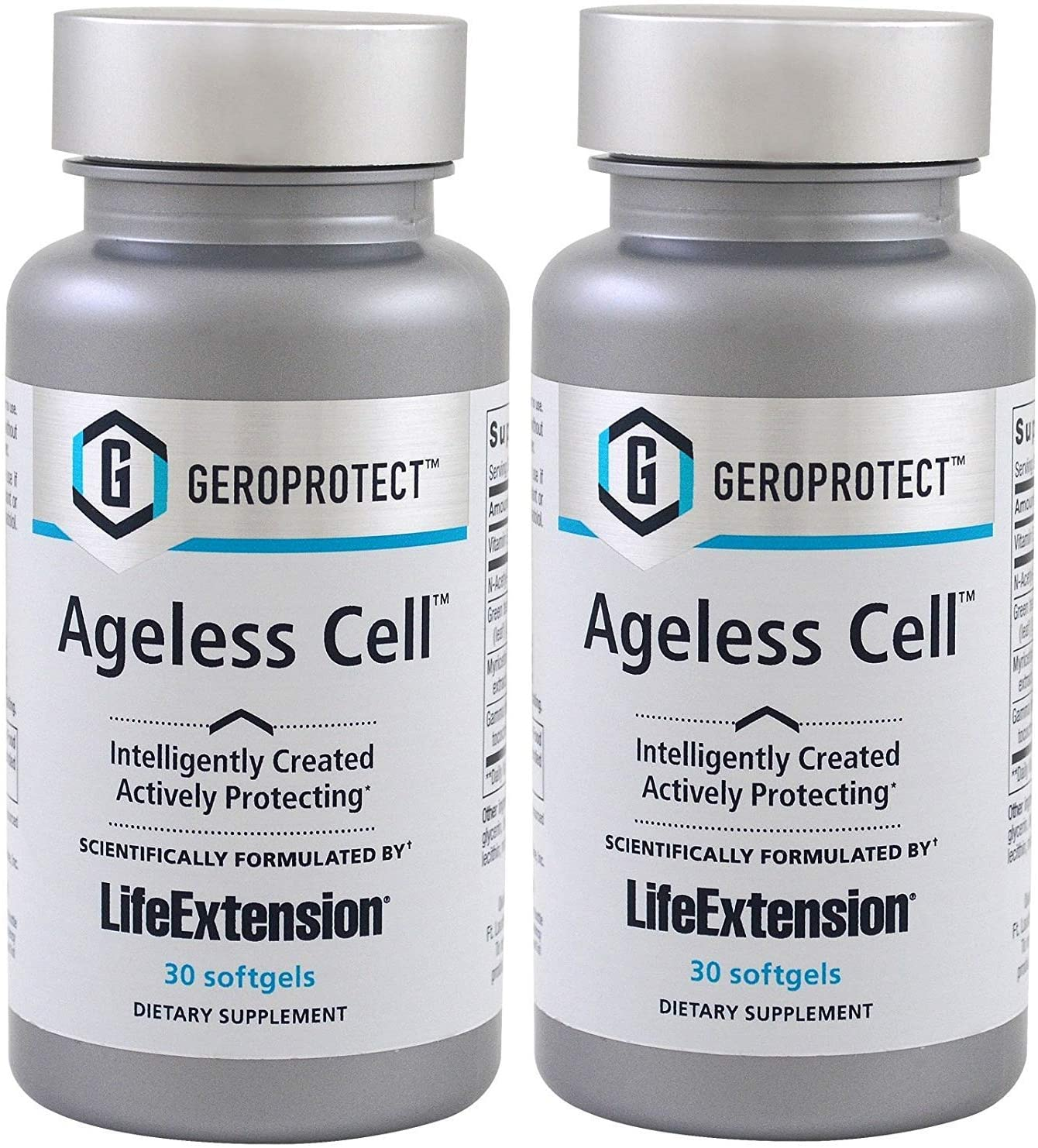 Life Extension GEROPROTECT Ageless Cell - 30 Softgels (2 Pack) - Accudata Marketing Group, LLC