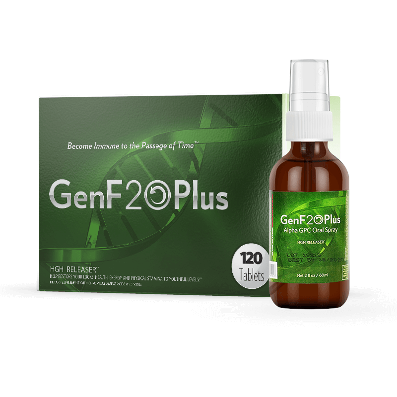 GenF20 Plus 120 Tablets with GenF20 Plus Alpha GPC Oral Spray - Natural Health Store